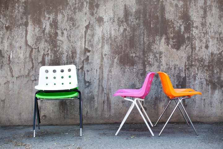 Colourful chair design